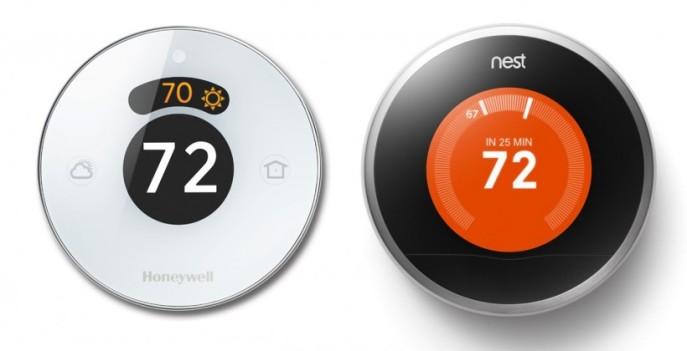 Honeywell Lyric and Google Nest smart thermostats
